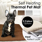 Thermal Natural Heat Self Heating Pet Bed Mat Cat Dog Warm Soft Washable Cover