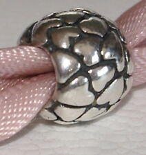 Genuine Pandora Sterling Silver Multiple Hearts Charm Retired