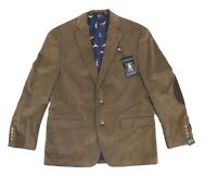 Lauren By Ralph Lauren Mens Sport Coat Brown Size 42 Short Corduroy $295 #018