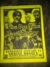 Three Days Grace & Buckcherry * Rare Flyer Handbill * Springfield, Mo 1/24/2007