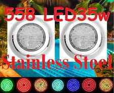 New 2x Stainless Steel* 558 LED Lights RGB 7Color Swimming Pool Spa Wall Mounted