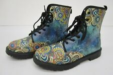 NIB Yes We Vibe Vegan Leather Boots Colorful Mandala Pattern Size 41 M 7.5 F 10