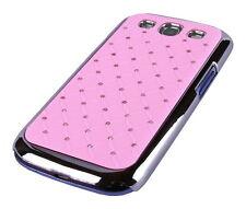 Custodia per Samsung Galaxy s3 i9300 i9305 GUSCIO PROTETTIVO CUSTODIA COVER BORSA STRASS ROSA