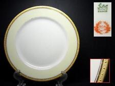 GDA LIMOGES CHAS FIELD HAVILAND SALAD PLATE [3] w - GOLD ENCRUSTED