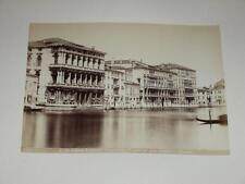 NAYA / VENISE VENEZIA 1870 Palazzo Rezzonico VINTAGE Albumen Print Photo Foto