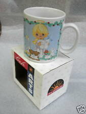 Coffee Mug Precious Moments Angel Heaven & Nature Sing Enesco Christmas Boxed