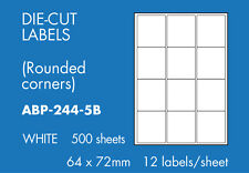 Hovat Multi-Purpose 12 to view 64mm x 72mm Self adhesive label ( 500 Sheets )