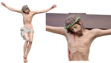"Jesus Christ Statue Fiberglass Crucifix 47,3""  cm.120 Cross Not Included"