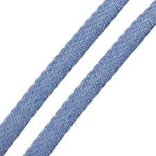 Jeansband flach 5x1,7mm 1m für Schiebeperlen blau