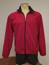 Lands End Red Front Zip Polar Fleece Jacket Size M 38-40 Excellent Condition