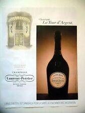 PUBLICITE-ADVERTISING :  LAURENT-PERRIER Cuvée Rosé 2015 Tour d'Argent,Champagne