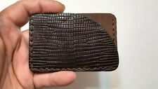 Hand Made Minimalist Iguana Skin Exotic Leather Credit Card/ Business Holder