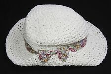 8ee607263bae Gorgeous Summertime Girly Light Beige Straw Hat with Flower Ribbon Bow ...