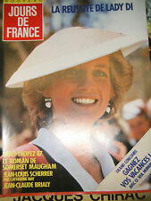 Jours de France N°1701 8 août 1987 Lady Di Somerset Maugham Jean Claude Brialy
