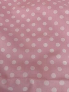 NWOT Pottery Barn Kids Pink & White Mini Dot Full/Queen Cotton Duvet Cover
