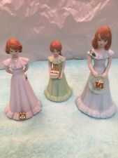 Enesco 1982 Ceramic Growing Up Birthday Girls Age 11-13-14- Perfect Condition