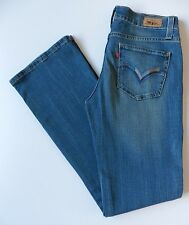 Women's Levis Bootcut Jeans Size 10R (Eur 36R) Blue W28 L32 Genuinely Crafted