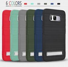 Slim Shockproof TPU Bumper Case Kickstand F Samsung Galaxy S9 S8 Plus Note 8 S7e