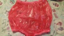 Adult baby waterproof  red plastic  pants/nappy covers