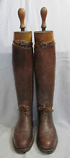 Vintage Maxwell Brown Leather Equestrian Polo Riding Mens Boots&Trees London