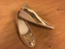 Artigiano Gold Wedged Shoes Size 40 Brand New