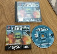 Army Men Air Attack Sony PlayStation 1 PS1 Game Complete Manual Cracked Case