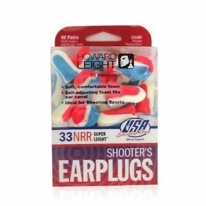Howard Leight R-01891 USA Shooters Ear Plugs 10 Pair USA