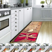 3D Printed Kitchen Rugs Large & Small Door Mats Non Slip Indoor Washable Runners