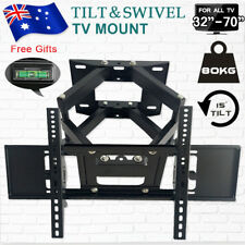 LCD LED TV Bracket Wall Mount Swivel Arms Strong Stable Support 80KG 32-70 Inch