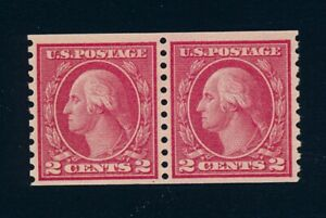 drbobstamps US Scott #455 Mint NH Coil Pair Stamps w/Graded VF 80 PSE Cert