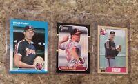 (3) Chuck Finley Rookie Card lot 1987 Fleer   Donruss Topps RC Angels 5X Allstar