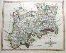 MIDDLESEX LONDON  BY JOHN CARY GENUINE ANTIQUE ENGRAVED  MAP  c1809