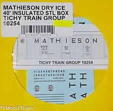Tichy Train Group #10254 Decal for: 40' Insulated Steel Box (Mathieson Dry Ice)