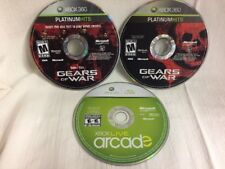 Lot 2 XBOX 360 GAMES GEARS OF WAR with BONUS DISK, ARCADE