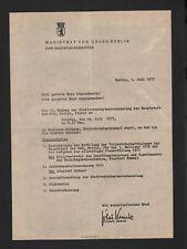 BERLIN, Brief 1975, Magistrat von Gross-Berlin der Oberbürgermeister