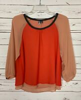 Sparkle & Fade Urban Outfitters Women's Size M Medium Cute Fall Top Blouse Shirt