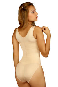 VEDETTE 106.Shaping Tank Bodysuit.Firm Compression. COLOR:CAMEL SIZE:XL(40) F/S