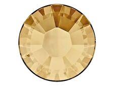 36 Swarovski HOTFIX Flatbacks 34ss Crystal Golden Shadow #2038 7mm ss34