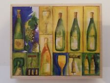 "Stamps Happen Michael Clark ""Wine Collage"" Stamp #90290"