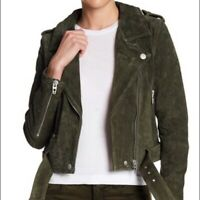 BLANKNYC Olive Juice Morning Suede Moto Jacket -XS