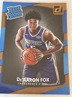 2017 Donruss Rated Rookie De'AARON FOX RC Rookie Sacramento Kings
