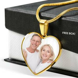 Personalized Photo Heart Necklace, Custom Picture Necklace, Photo Necklaces
