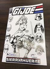 G.I. Joe Sierra Muerte #1 ComicsPRO Marat Mychaels B&W Variant IDW