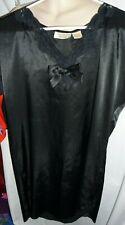 Vintage Victorias Secret Gold Label Black Silky lace sleep shirt pjs lingerie S