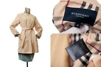 Women's BURBERRY London Belted Trench Sand Color Coat Size M