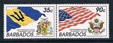 Barbados 1997 Visit of President Clinton SG 1105/6 MNH