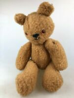 VINTAGE TEDDY BEAR - CUTE FACE - JOINTED AND WELL LOVED - GLASS EYES
