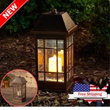 Outdoor Solar Lantern Hanging Light Led Garden Lamp Yard Patio Pillar Candle LED