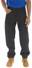 Navy Action Combat Cargo Trousers Work Wear 7 Zip Workwear Pant Unisex Black