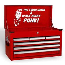 PUT THE TOOLS Down Funny Novelty Joke GARAGE BOUTIQUE Tool Box Vinyle Décalque Sticker